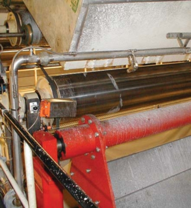 Firefly IR Guard system on a paper machine