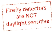 Firefly detectors are not daylight sensitive