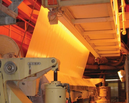 An IR Dryer on a paper machine
